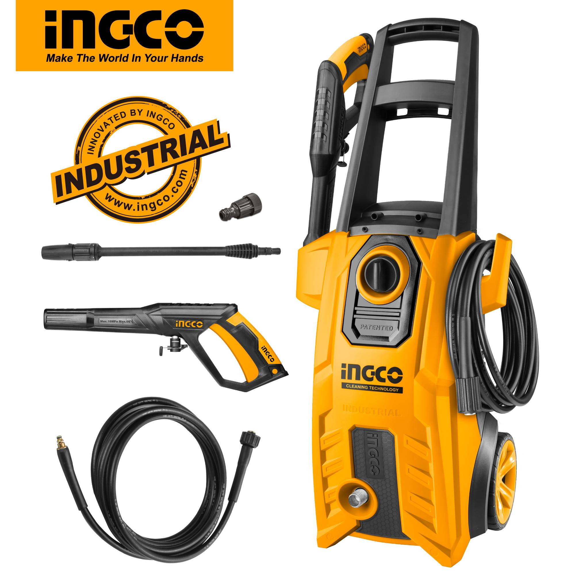 INGCO 1800W High Pressure Washer, Pure Copper Wire, 5m High Pressure Hose HPWR18008