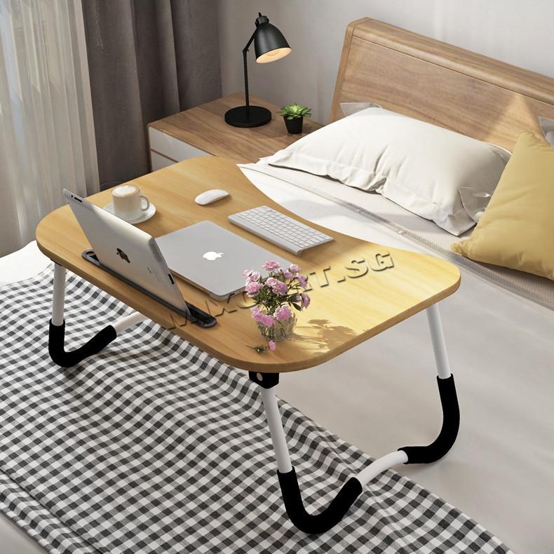 MixCart★Laptop Table★Bed Table★Foldable Wood Desk★Computer Table★Non-Slip★Ergonomic Anti-slip Table