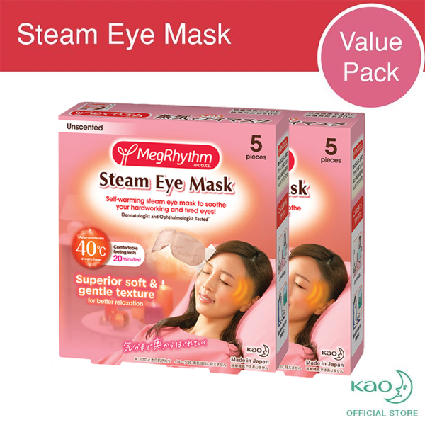 Buy MegRhythm Steam Eye Mask Unscented 5P (x2 Twin Pack) Singapore