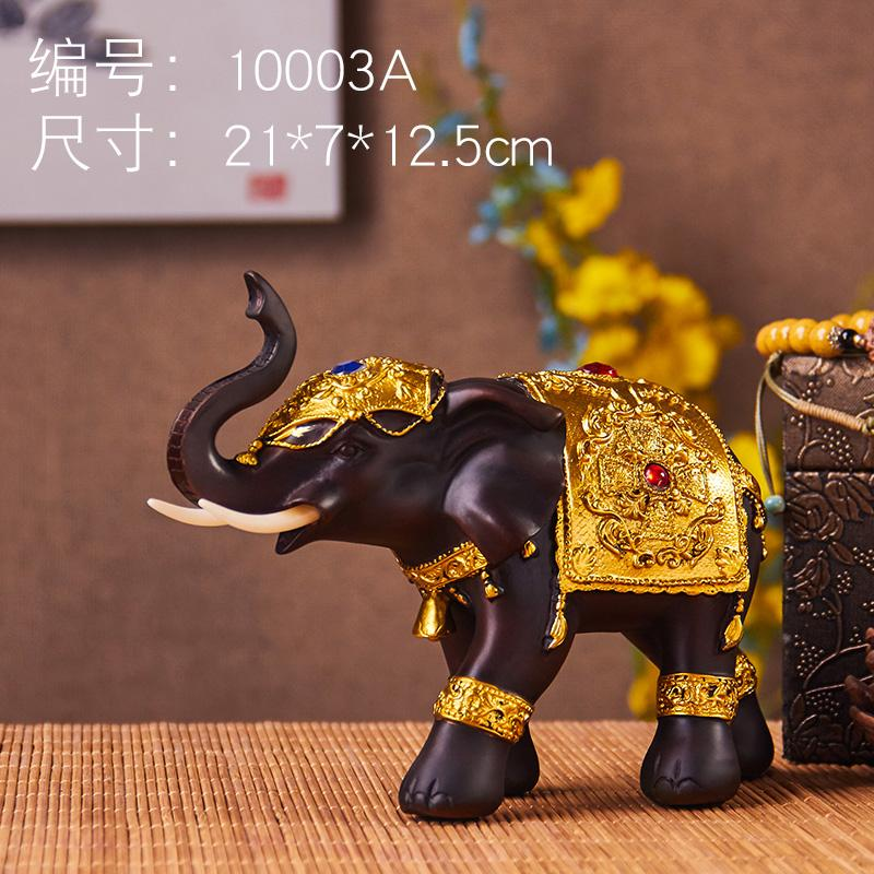 Thailand Lucky Feng Shui Elephant Decoration a 58 Living Room Television Wine Cabinet Decorations House Protection Geomancy Elephant Asian Creative Luxury Art Works