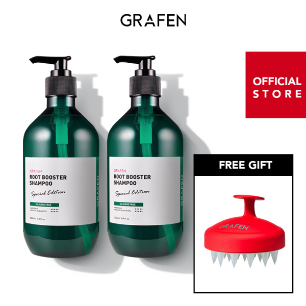 Buy [GRAFEN] [Bundle of 2] Root Booster Shampoo 500ml+[Free Gift] Edge Finger Red Singapore