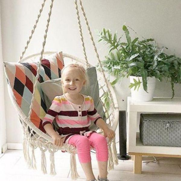 Nordic Style Round Hammock Outdoor Indoor Swinging hanging Single chair