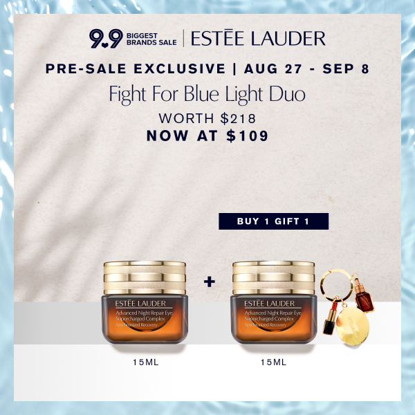 Buy [9.9 Pre-Sale Exclusive: Aug 27-Sep 8] Estee Lauder - 2-pcs Skincare Set with Advanced Night Repair Eye Supercharged Complex Synchronized Recovery 15ml + 15ml (worth $218) • Fight for Blue Light Duo Singapore
