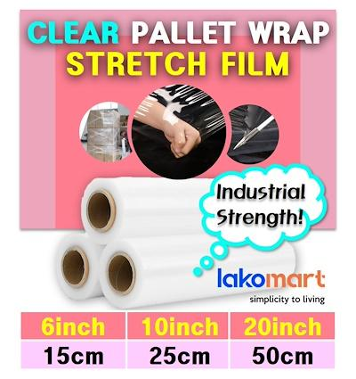 ⏰【Strongest Pallet Film Wrap 10inch】⏰ Clear Plastic Wrap Industrial Strength Stretch Pack Shrink - 10 Inch