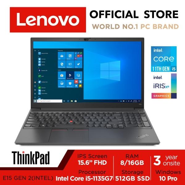 [Free 3Years Onsite] Lenovo ThinkPad E15 Gen 2 | 20TD00BSSG | 15.6 FHD (1920x1080) | Intel Iris Xe | Intel Core i5-1135G7 | 8GB DDR4-3200 | 512GB SSD | Win10 Pro | 3Y Onsite Warranty