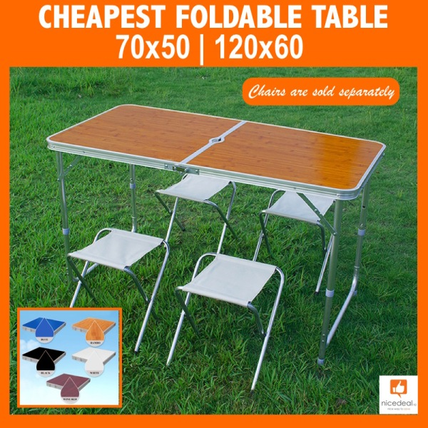 120 x 60 Normal Portable Foldable Aluminium Table/4 colour options/Suitable for party, outdoor and event use