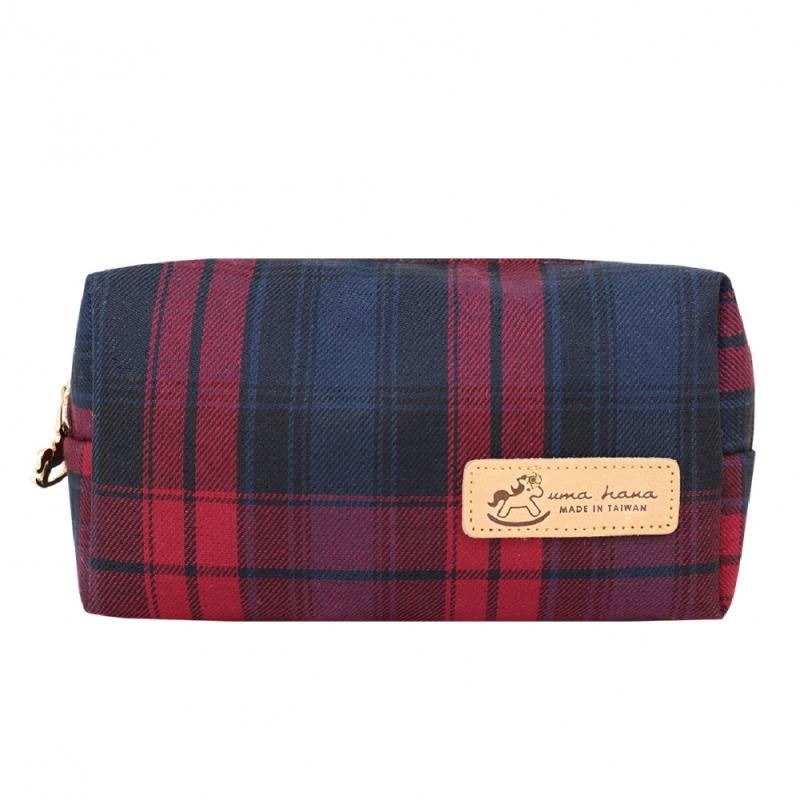 *PREMIUM* Uma hana Waterproof Rectangle Cosmetic Pouch | 長方化妝包 | UNHC006 | Checkered Red