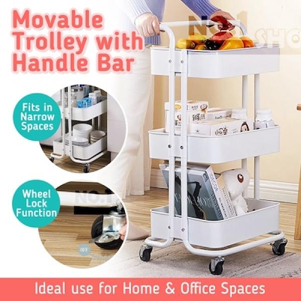 Multi-Purpose Movable Kitchen Trolley /Trolley Storage /Kitchen Rack /Kitchen Organiser