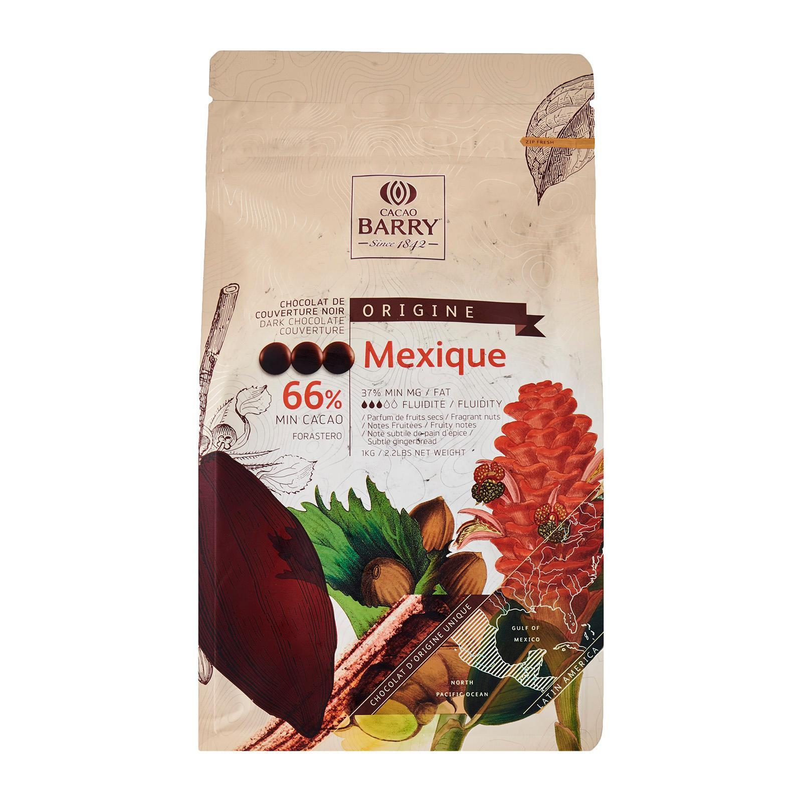 Cacao Barry Choc Couv Dark Cocoa 66% Pistoles - Mexique By Redmart.