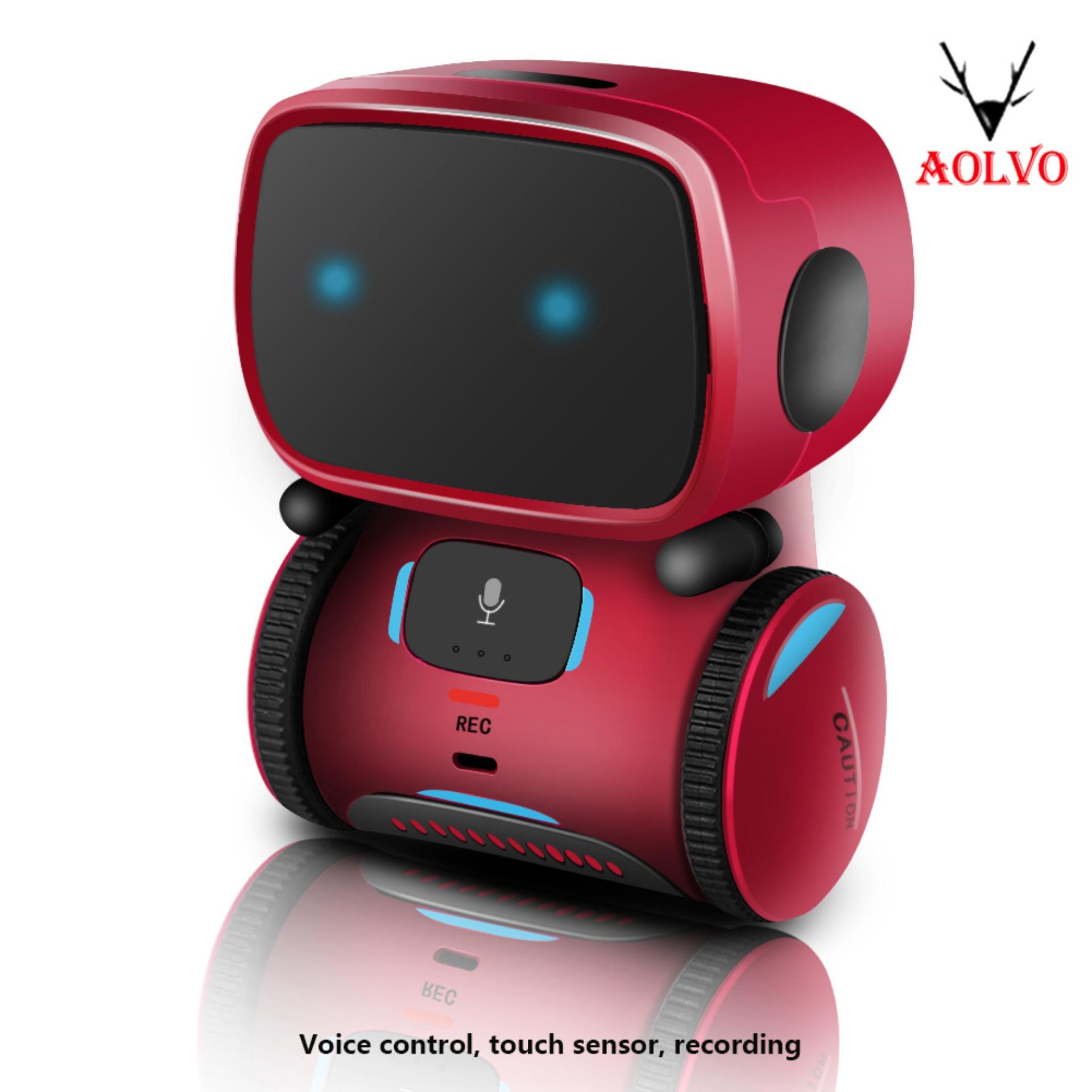 Aolvo RC Robot With Voice Control, New Touch Sensing Interactive Smart Robot Toys, Music