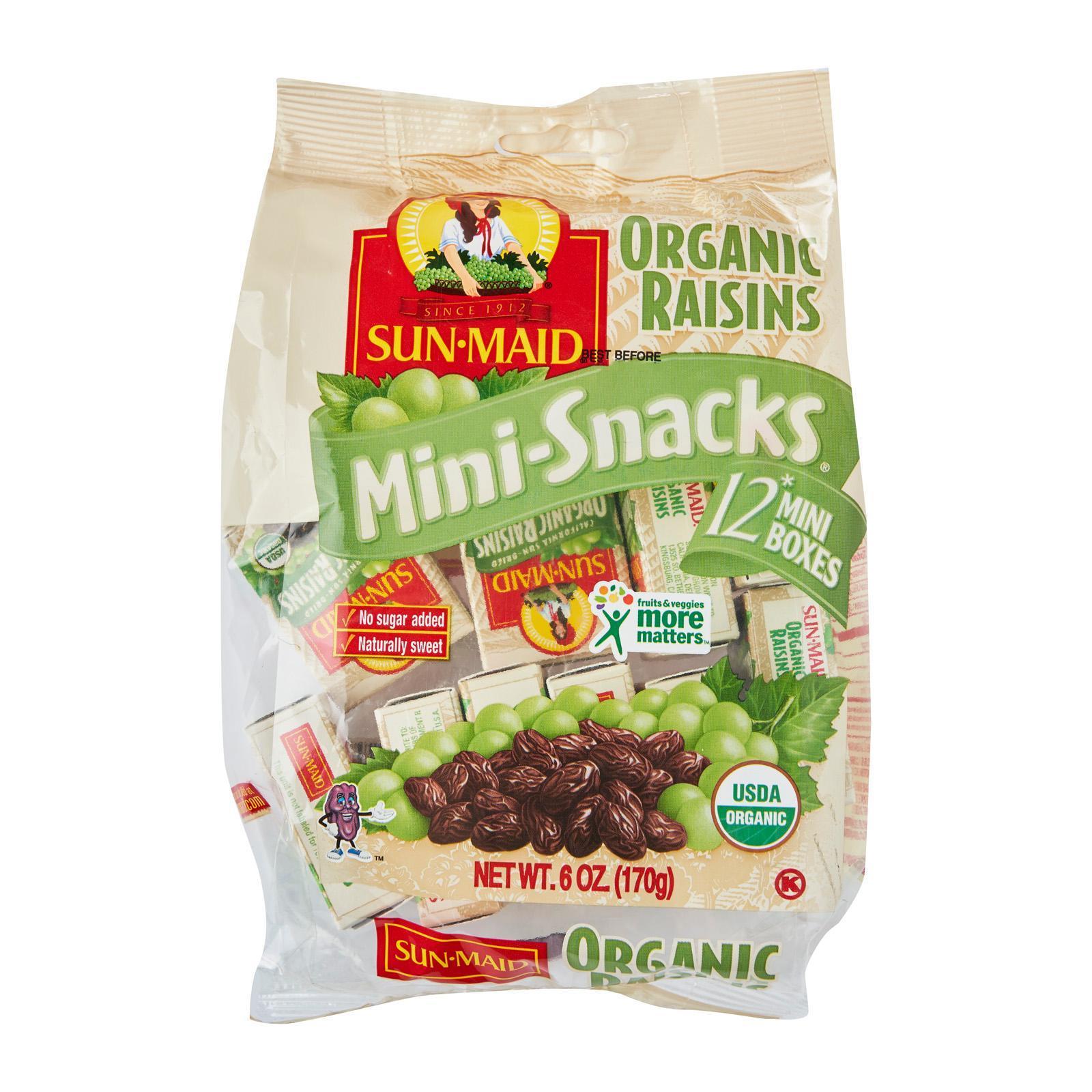 Sun-Maid Organic Raisins - Mini-Snacks