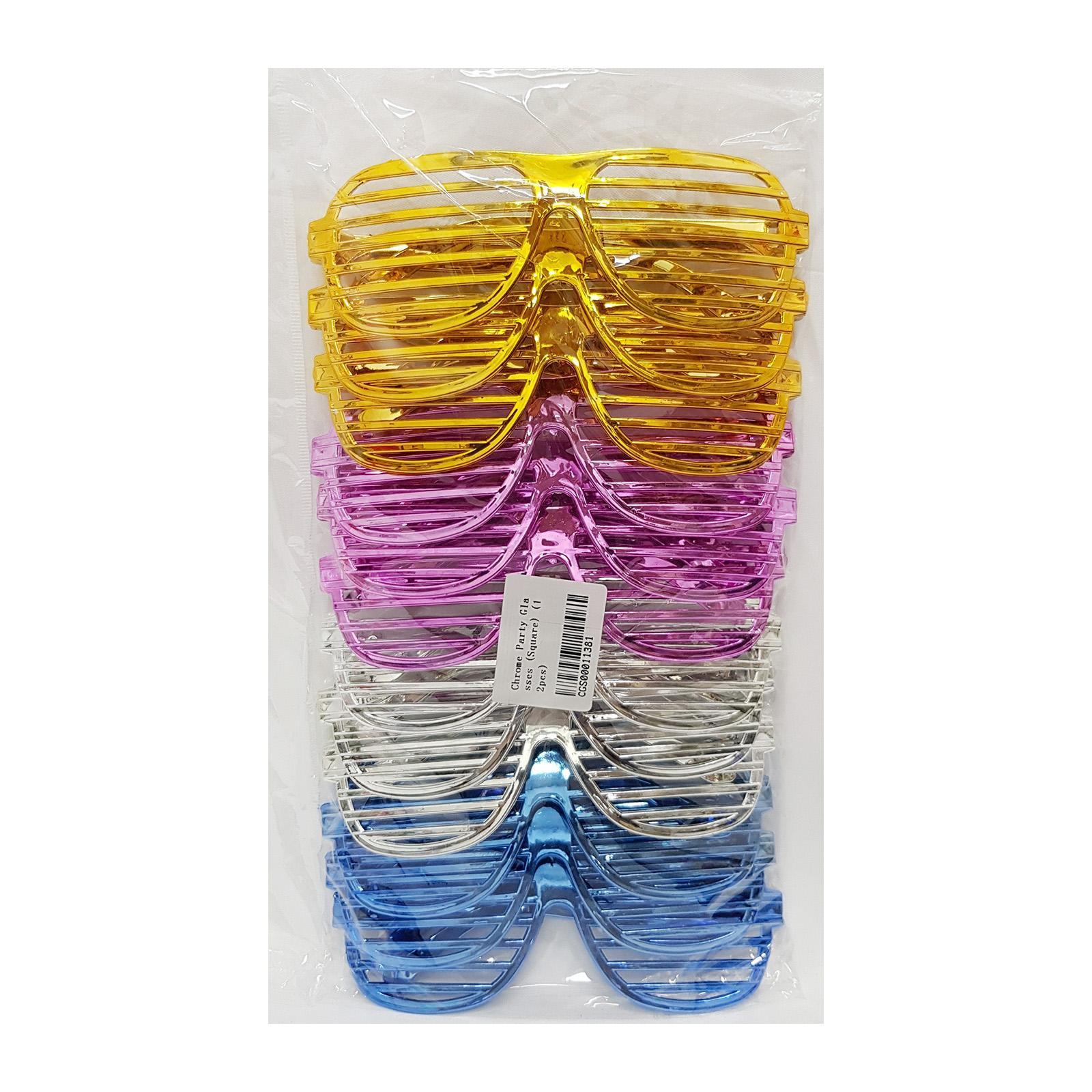 CGS Chrome Party Glasses (Square)