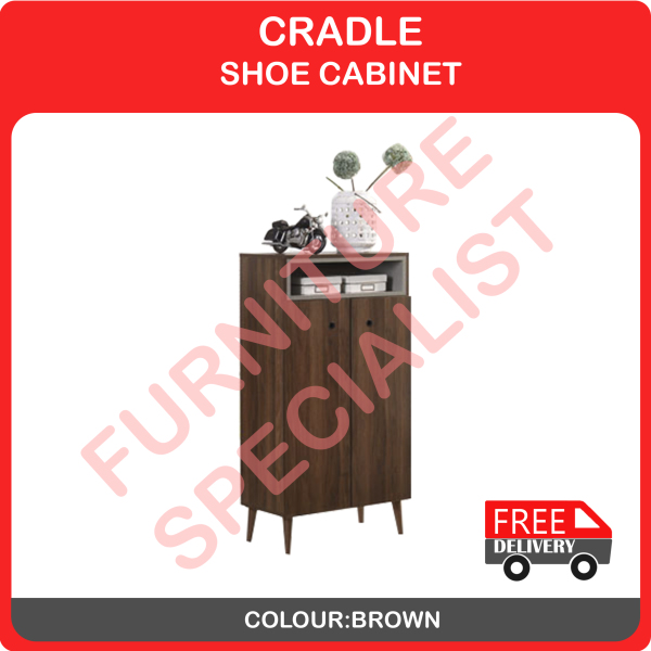 CRADLE SHOE CABINET / WALL- MOUNTED SHOES CABINET