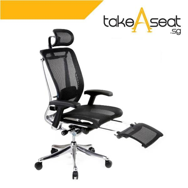 Spring Luxury Office Chair With Legrest (Black)