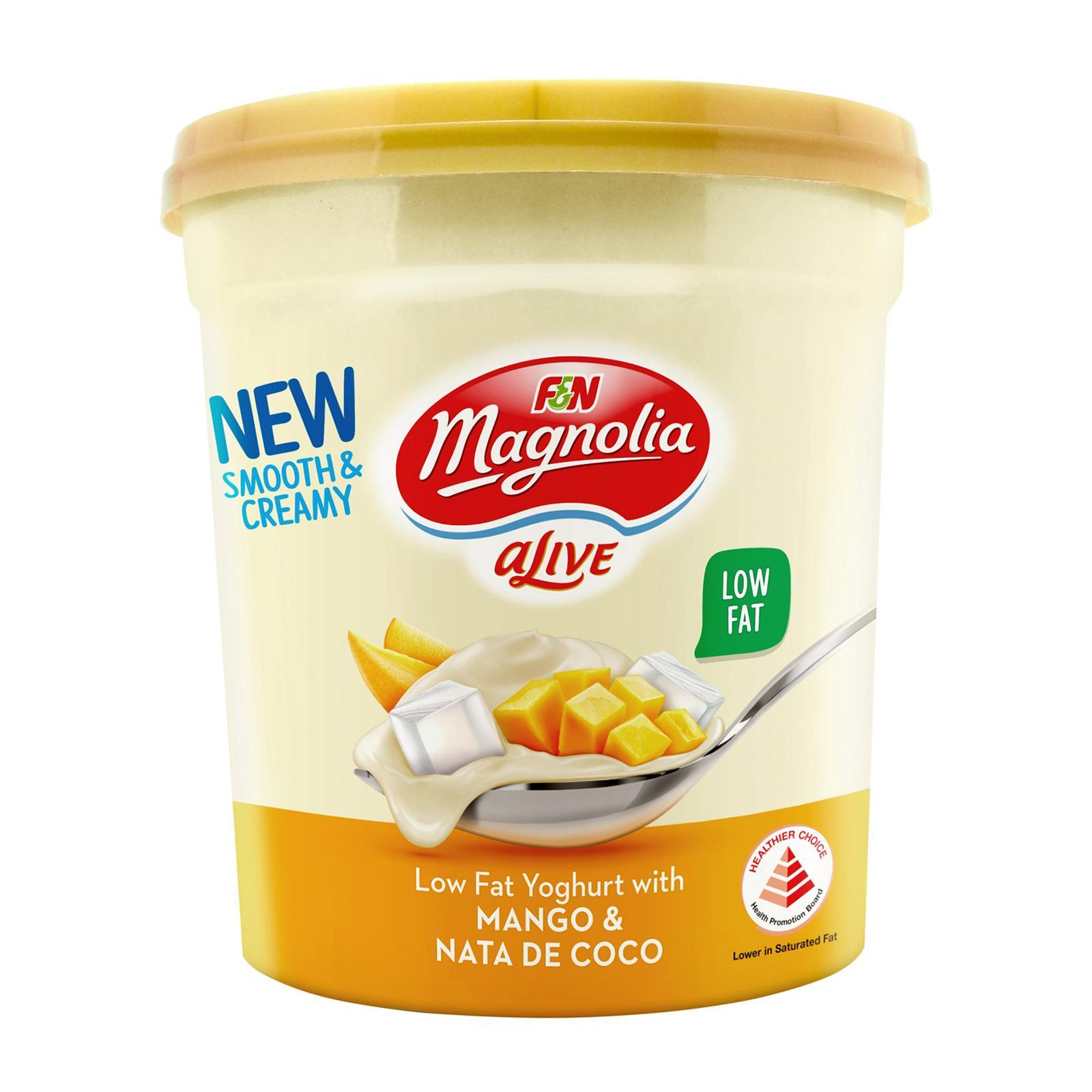 F&N Alive Replenish Low Fat Yoghurt With Mango and Nata De Coco