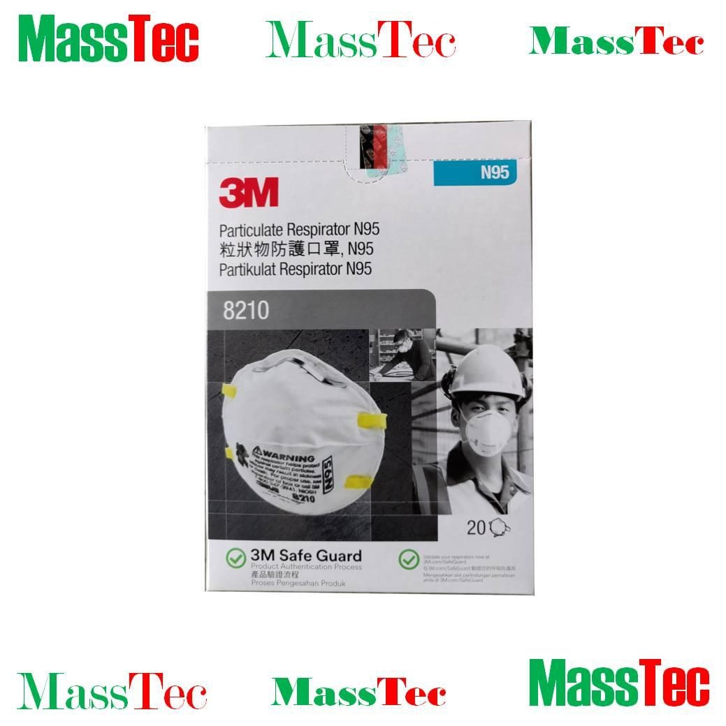 3m™ Particulate Respirator 8210, N95 Mask (20pcs/box) By Masstec.