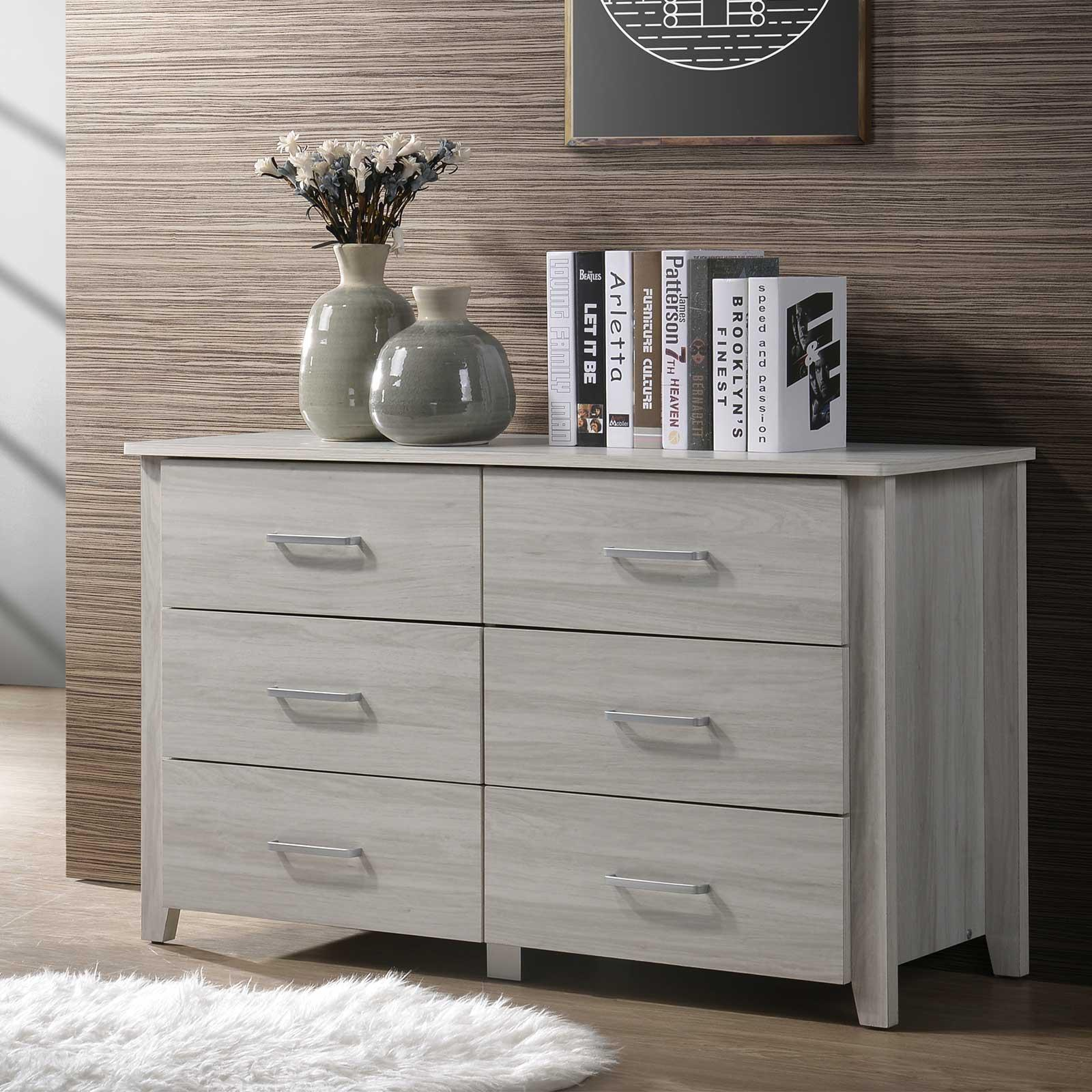Chest Of Drawers (Free Installation + Delivery) Dresser Storage Cabinet In Light Oak