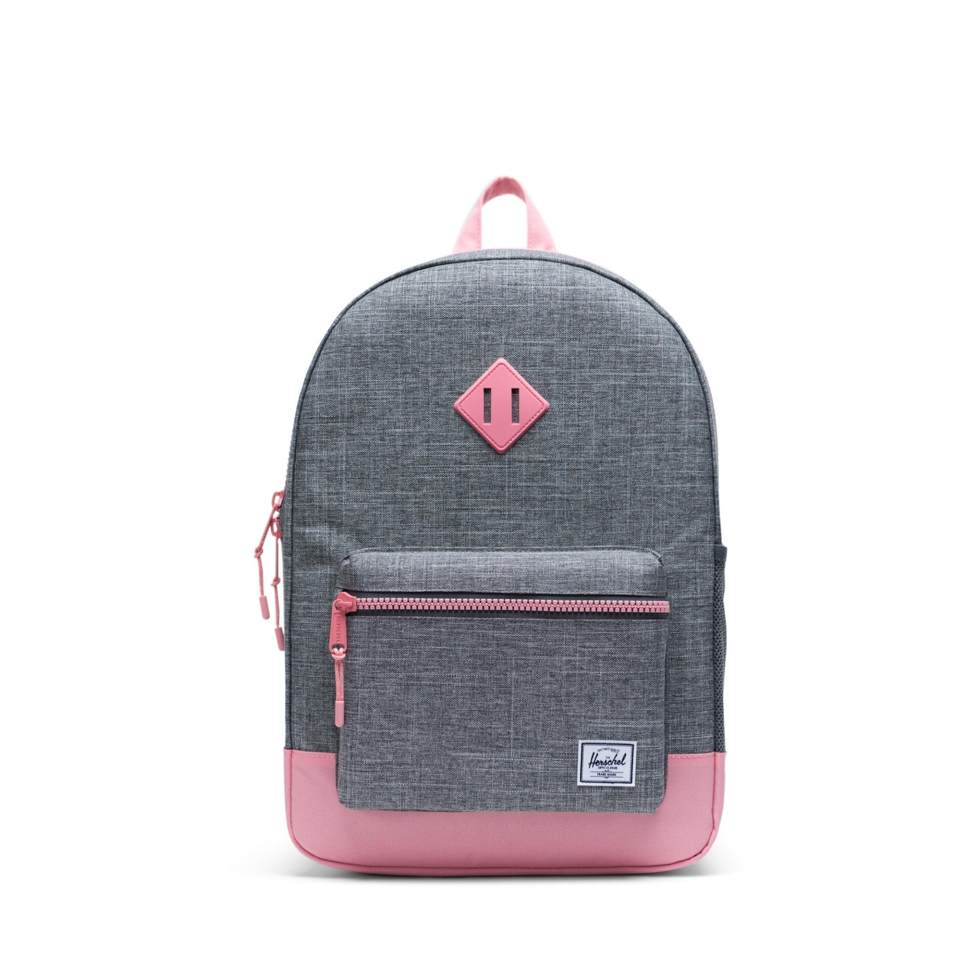 Herschel Heritage Youth X-Large - Raven Crosshatch-Flamingo Pink