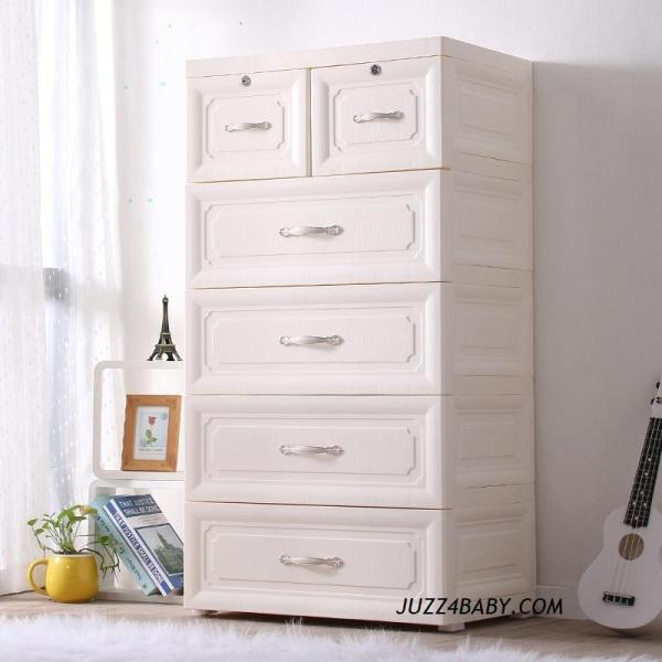 【Premium】Euro Design 5 Tier Knock Down Cabinet with Lock storage cabinet