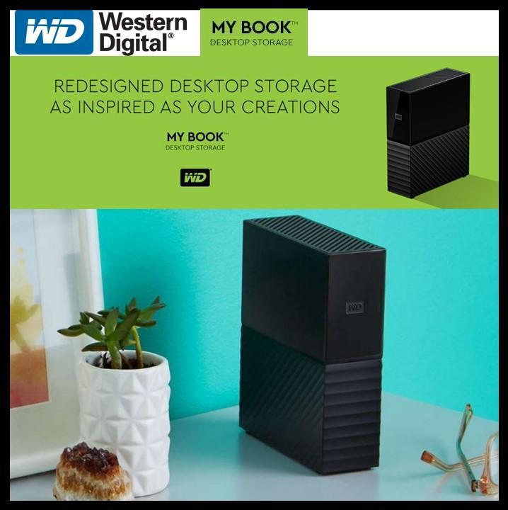 WD My Book (3TB 4TB 6TB 8TB 10TB) Desktop External Hard Drive, USB 3 0