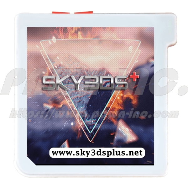 SKY3DS PLUS Flash Card for Nintendo 3DS, 3DS XL, 2DS, 2DS XL, New, LL, FlashCard, Orange Button, SkyDock, Sky Dock