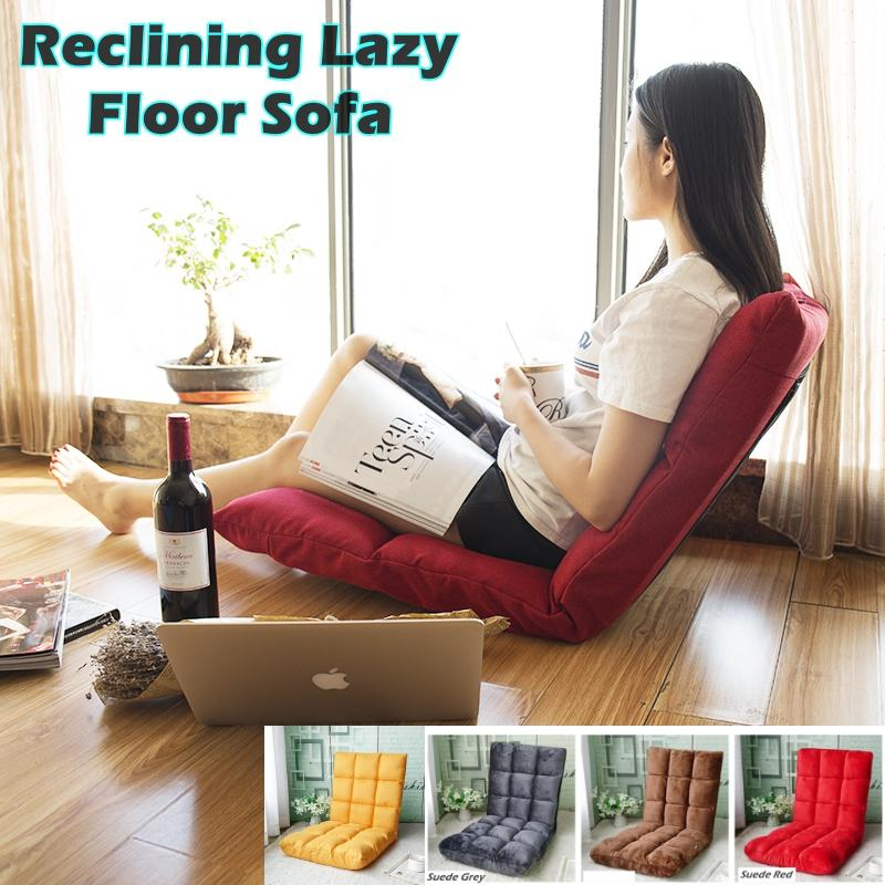 Reclining Lazy Floor Sofa Chair/ Foldable 5 Adjustable / Comfortable/ Space-Saving Bed