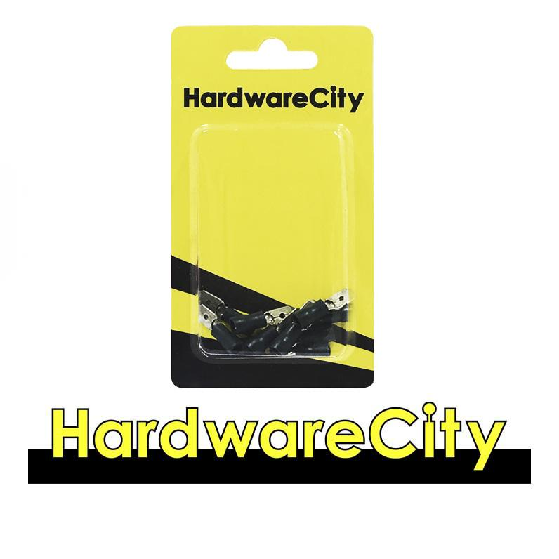 HardwareCity Insulated Male Spade Crimp Connectors, Blue (16AWG - 14AWG), 10PC/Pack