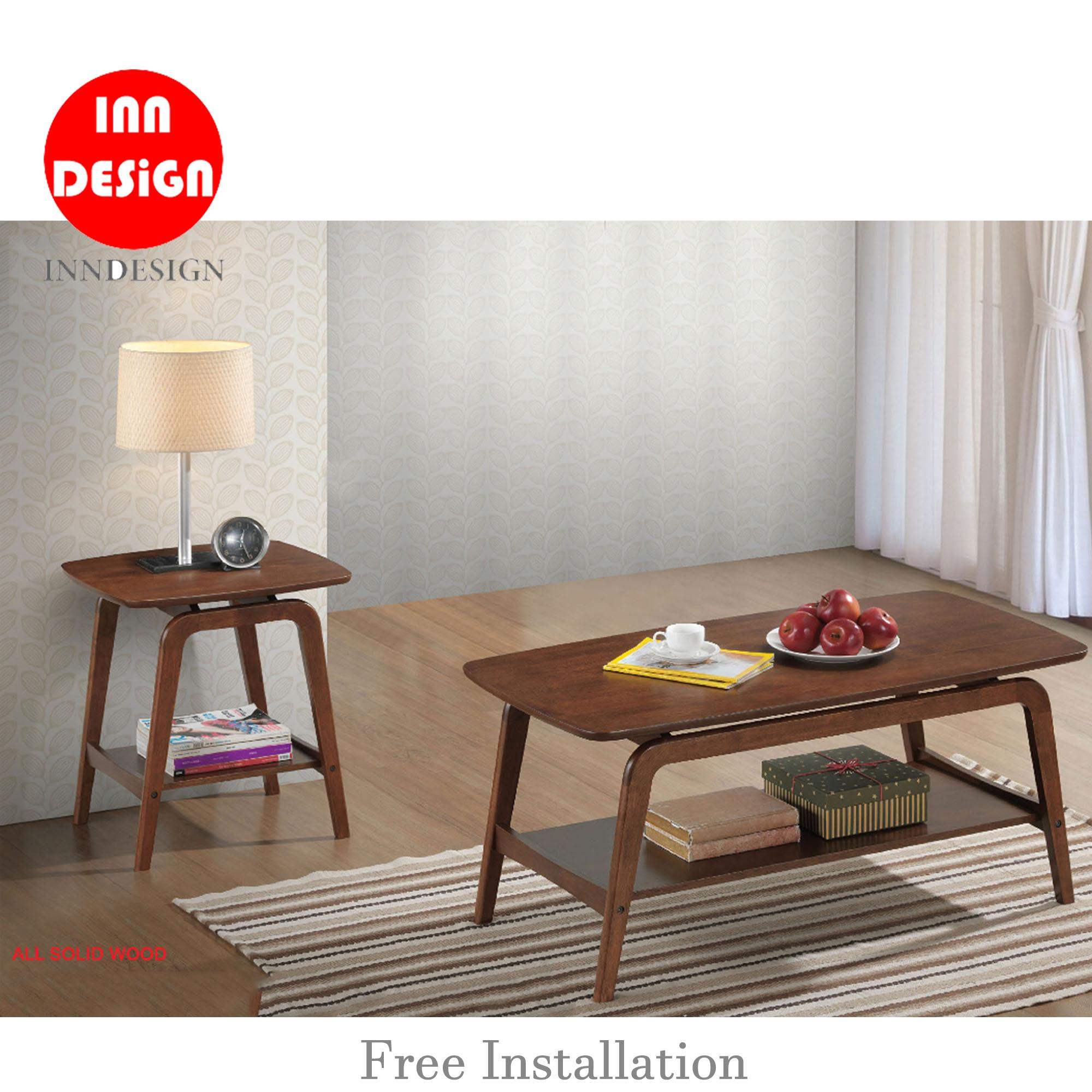 Noreen Side Table / Coffee Table (Solid Wood)