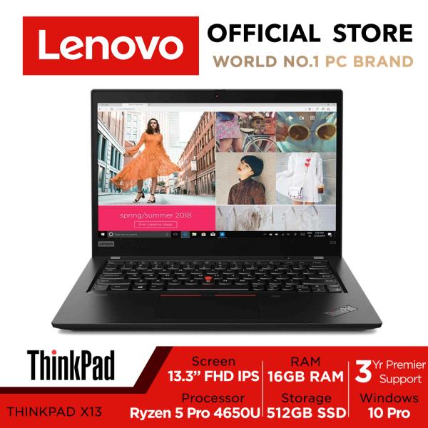 ThinkPad X13 Gen 1 | 20UGSAW00 | 13.3 FHD Anti-Glare 300nits | Ryzen 5 Pro | 16GB | 512GB | Win10 Pro | 3Y Premier Support