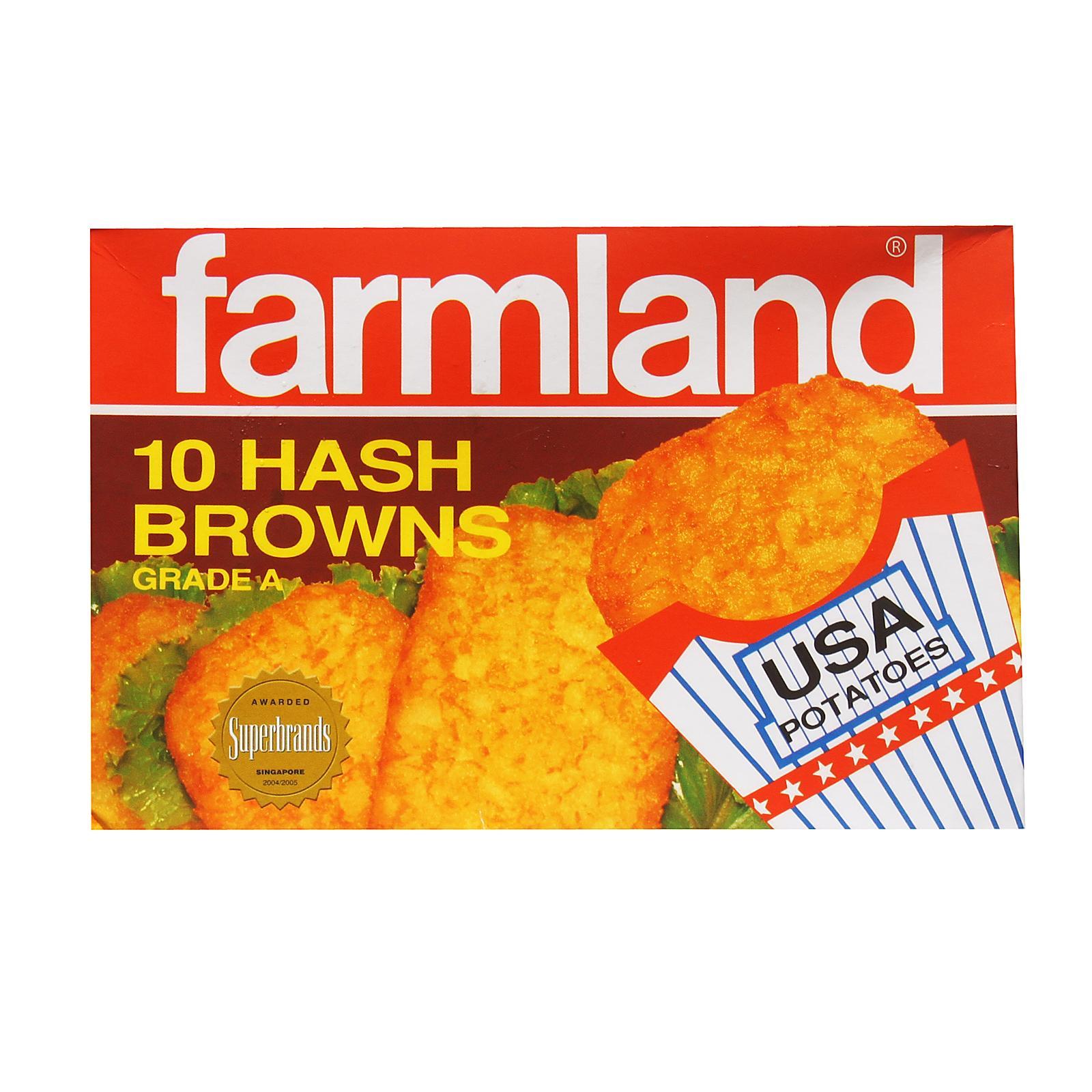 Farmland Hashbrown 10s - Frozen By Redmart.