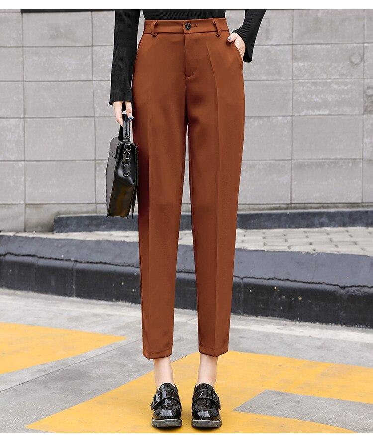 Spring Autumn Newest Pants Plus Size Xs-3Xl Trousers Women Pants Office Lady Pencil Pant High Waist Slim Work Ankle-Length Pants
