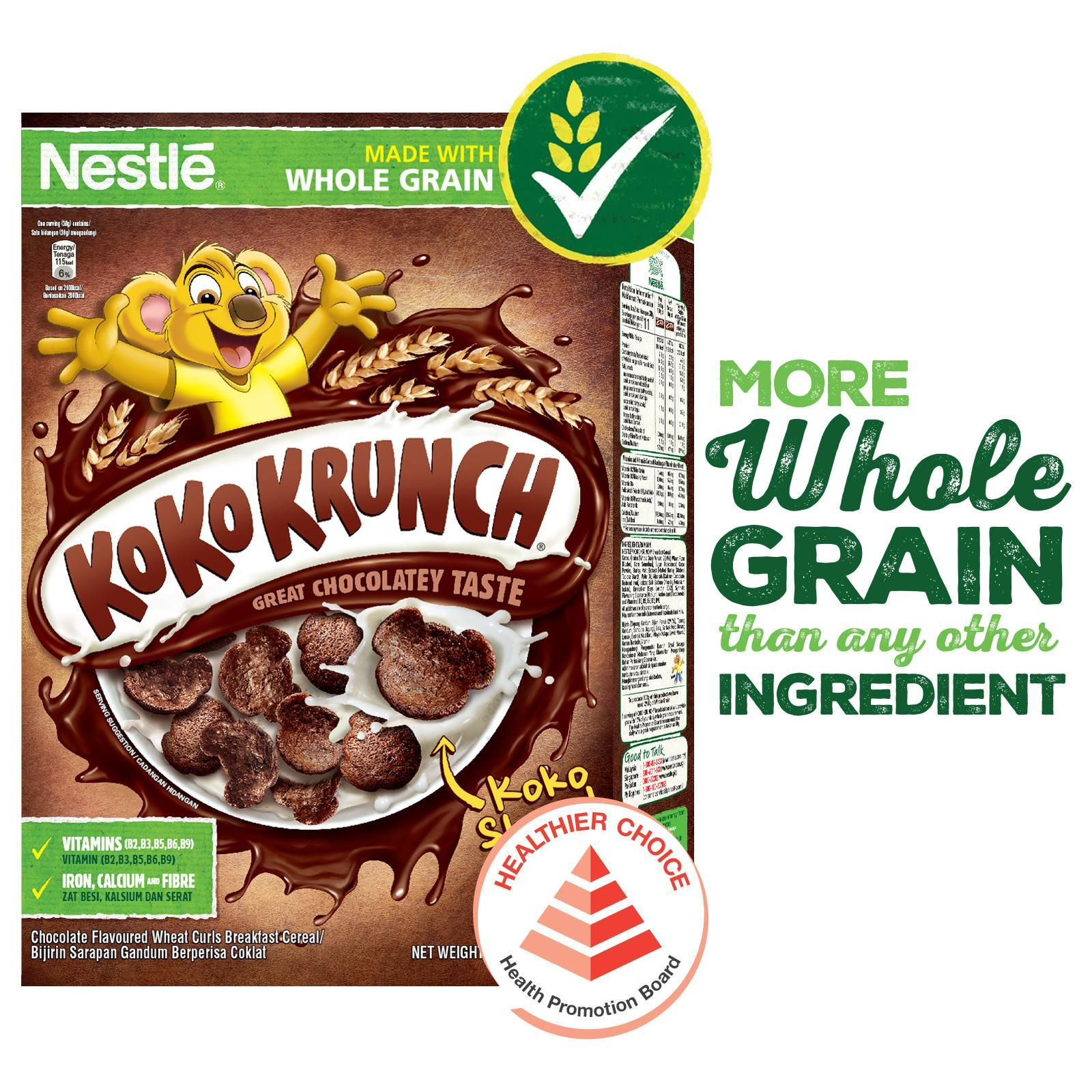 Nestle Koko Krunch Cereal With Whole Grain (330g) By Redmart.
