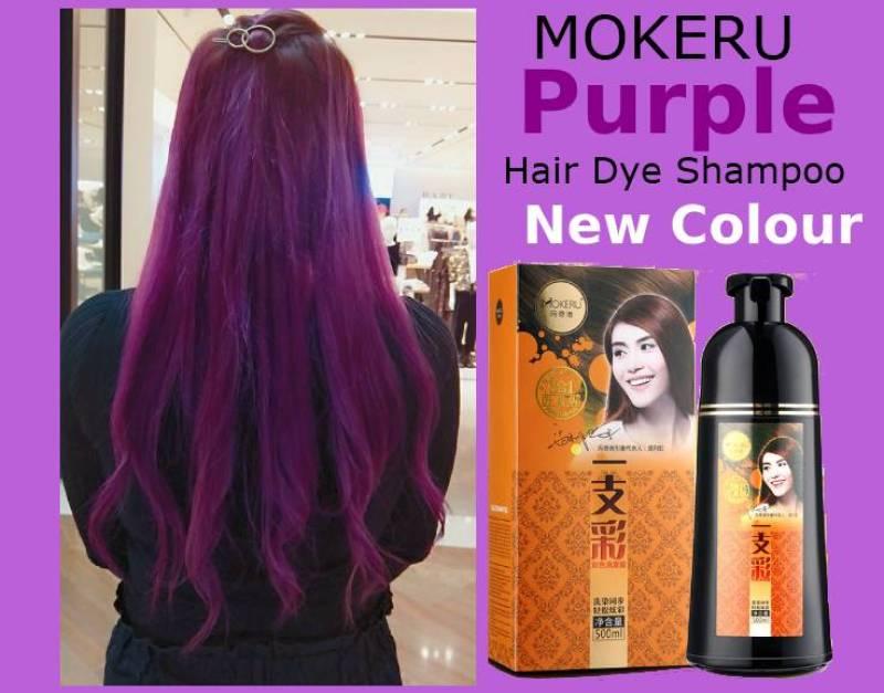 Buy (2020 formula) Purple Mokeru Hair Dye Shampoo 30 min (500 ml) Singapore
