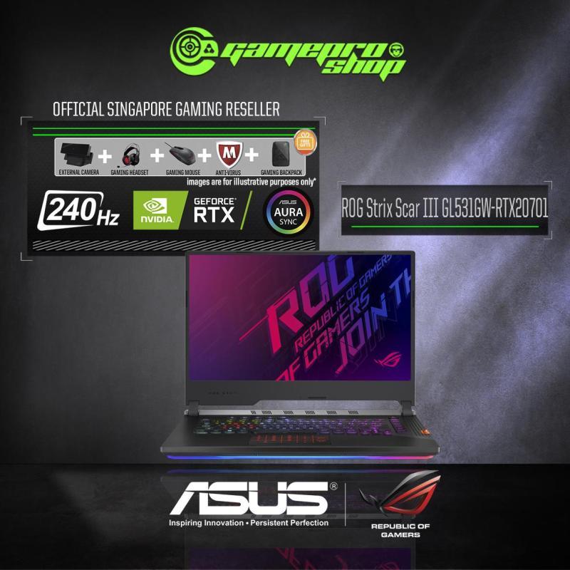 9th Gen ASUS ROG Strix SCAR III GL531GW - RTX 2070 ( I7-9750H / 16GB / 1TB SSD ) 15.6 WITH 240Hz GAMING LAPTOP  *11.11 PROMO*