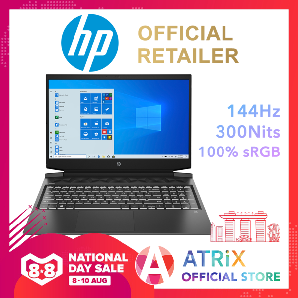 【Same Day Delivery】2020 HP Pavilion Gaming 16 | 15.6inch 144Hz 100% sRGB | GTX1650 DGB DDR6 | Win10 Home | 2Yrs HP Onsite Warranty