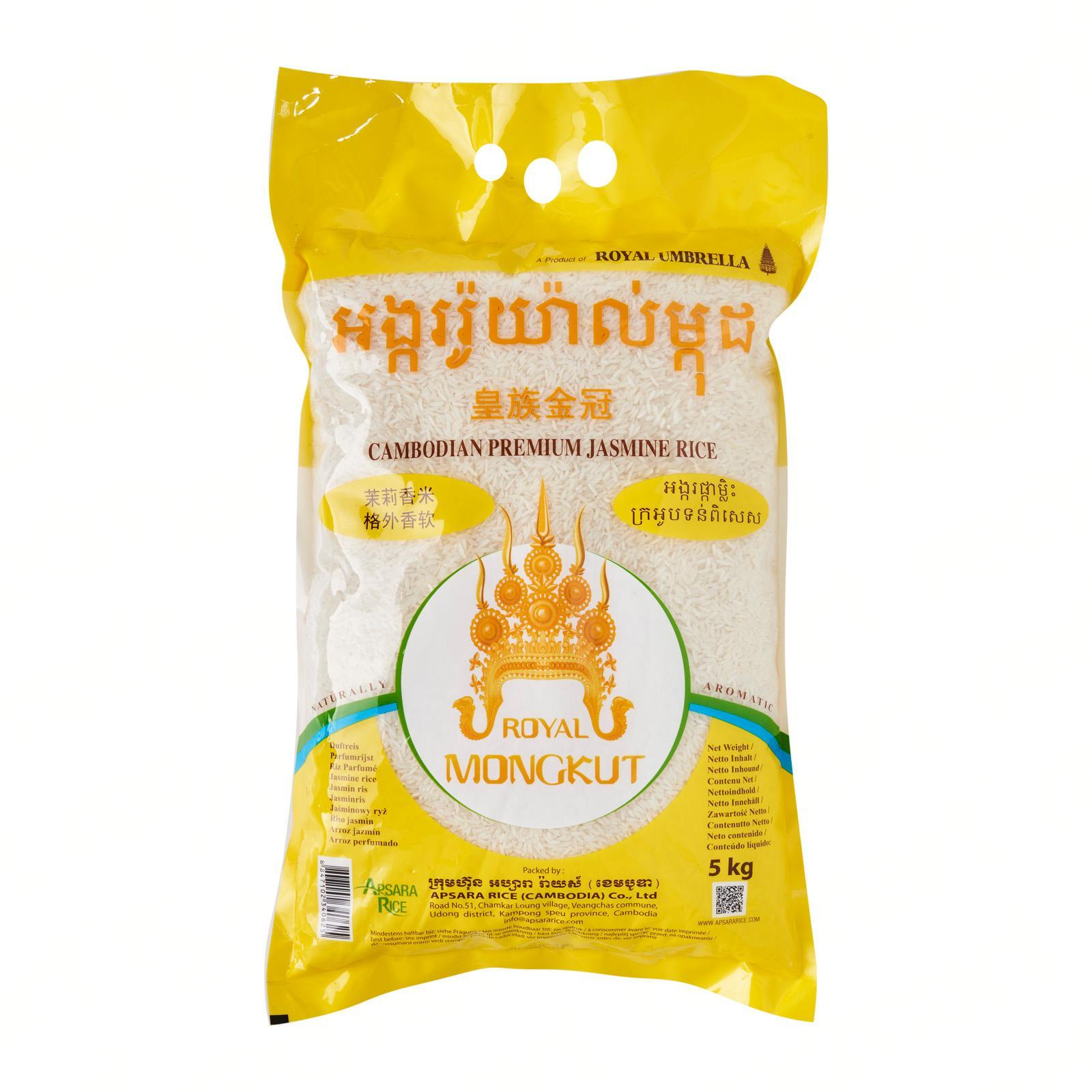 Royal Mongkut Cambodia Premium Jasmine Rice