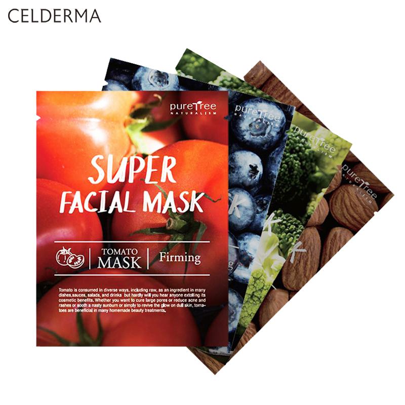 Buy Celderma Puretree Super Facial Masks Box of 10 Masks Einashop SG Official Srore Singapore