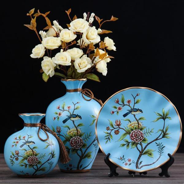 American Ceramic Vase Decoration European Style HYUNDAI Living Room Entrance TV Cabinets Wine Cabinet Creative 58 Decorations Asian Creative Luxury Art Works