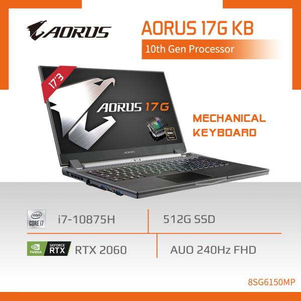 AORUS 17G KB - 8SG2130MH (i7-10875H/16GB DDR4 2933 (8GBx2)/GeForce RTX 2060 GDDR6 6GB/512GB M.2 PCIE SSD/17.3inch Thin Bezel 240Hz FHD Display/WINDOWS 10 HOME) [Ships 2-5 days]