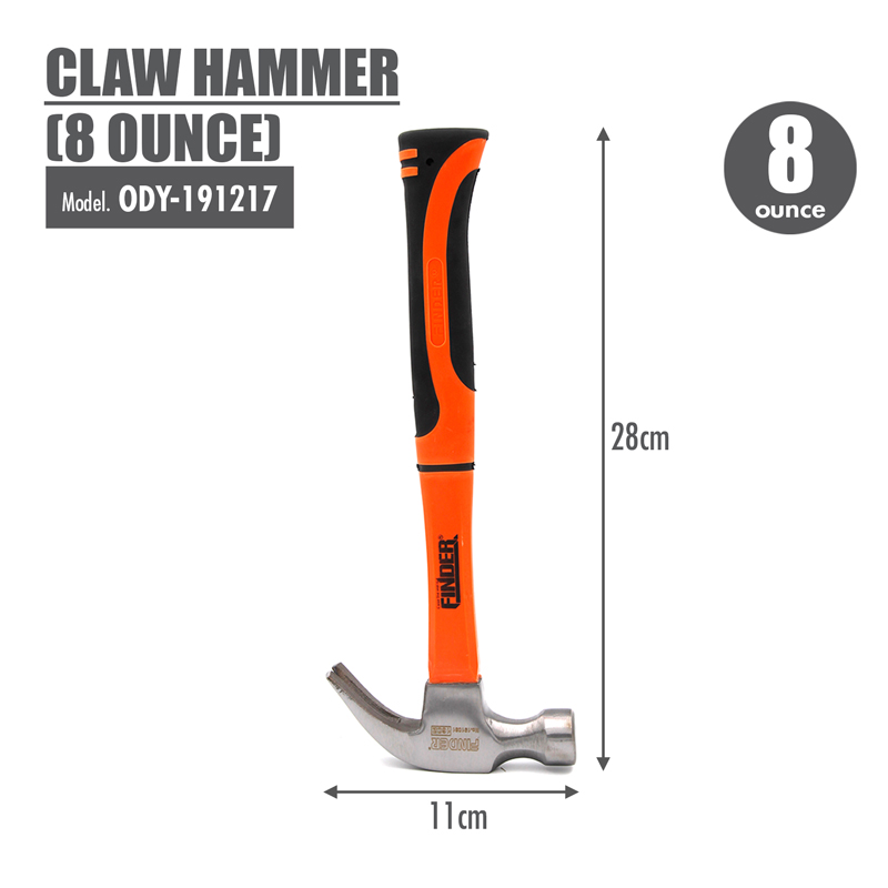 FINDER - Claw Hammer (8 Ounce)