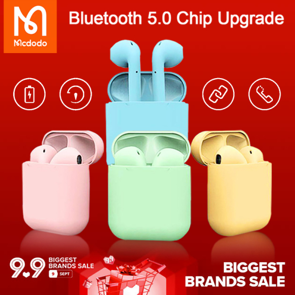 [2020 Hotspot] Original TWS Bluetooth Wireless Earphone inPods 12 Macaron Headset Smart Touch In-ear Earbuds with Mic Music Sports i12 Headphone suitable for IOS/Android Singapore