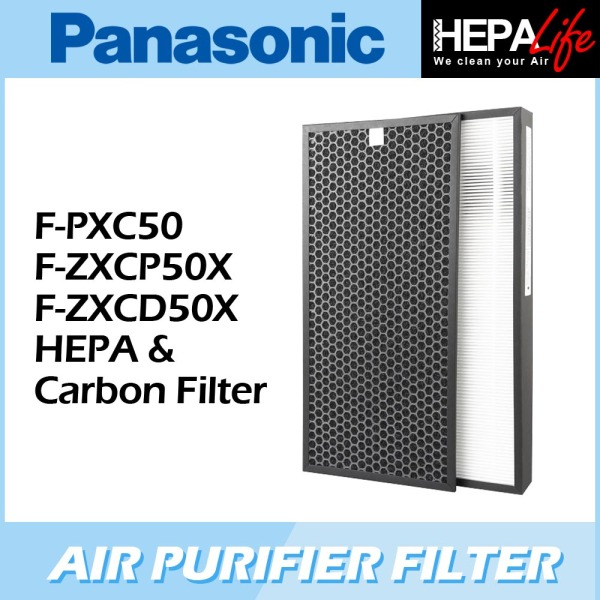 Panasonic F-PXC50 F-ZXCP50X F-ZXCD50X Compatible Hepa & Carbon Filter - Hepalife Singapore