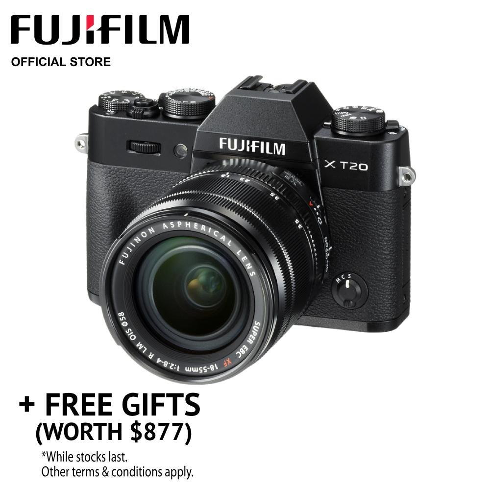 [may Promo] Fujifilm X-T20 Body + Xf18-55mm Kit (free Gifts Worth $877) By Fujifilm.