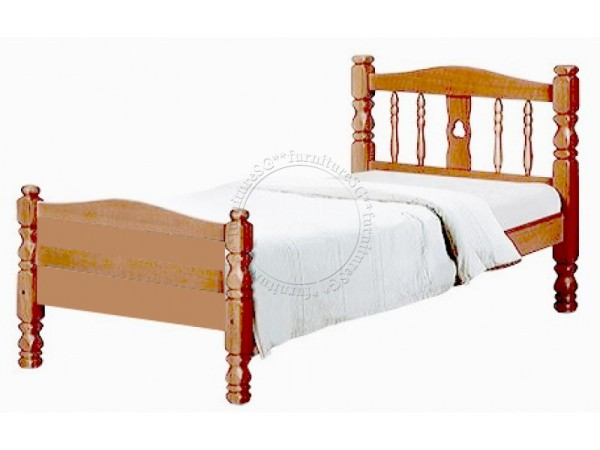 (FurnitureSG) Solid Wooden Bed with Plywood base