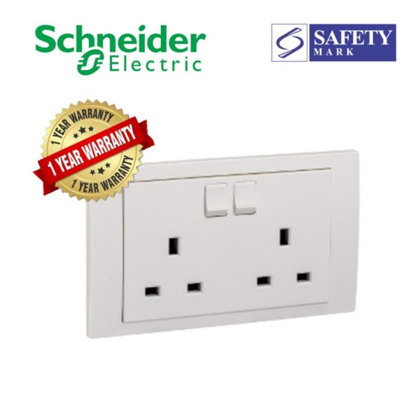 Schneider Electric Vivace- 13A 250V 2Gang Switched Socket