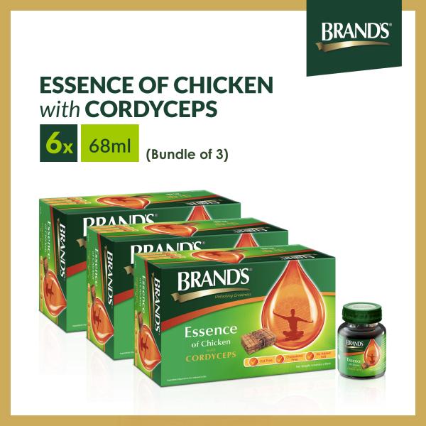Buy [Bundle of 3] BRANDS® Essence of Chicken with Cordyceps 3 Packs x 6 Bottles x 68ml Singapore