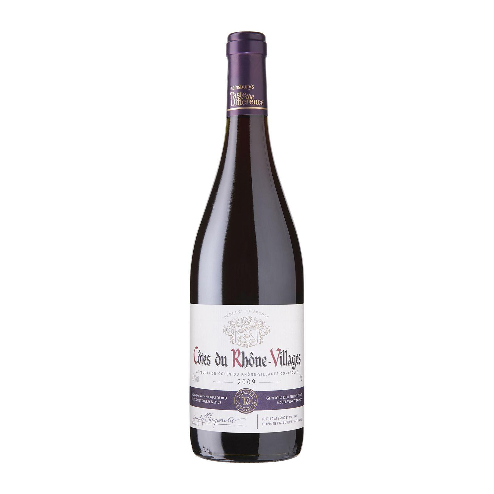 Sainsbury's Taste the Difference Cotes Du Rhone Villages Red Wine