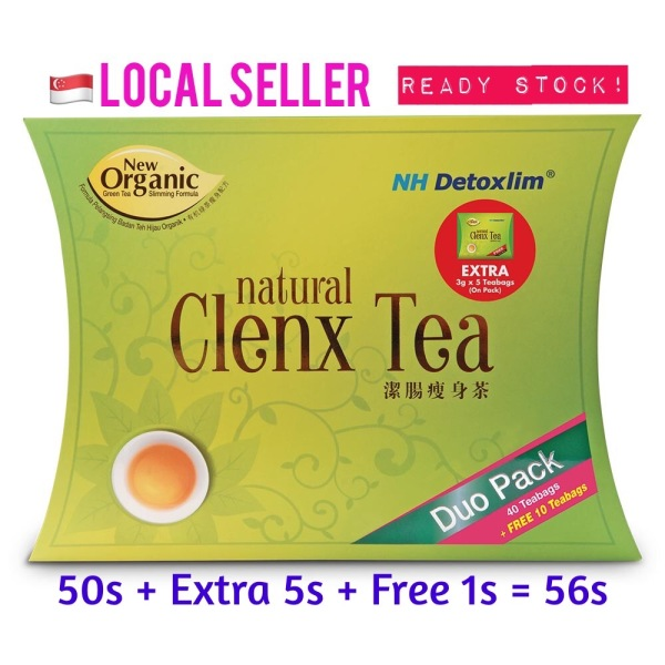 Buy SG SELLER NH DETOXLIM NATURAL CLENX TEA (Detox Slimming Tea) 50s + Extra 5s + Free 1s = 56s (Local 2-3 days doorstep delivery) Singapore
