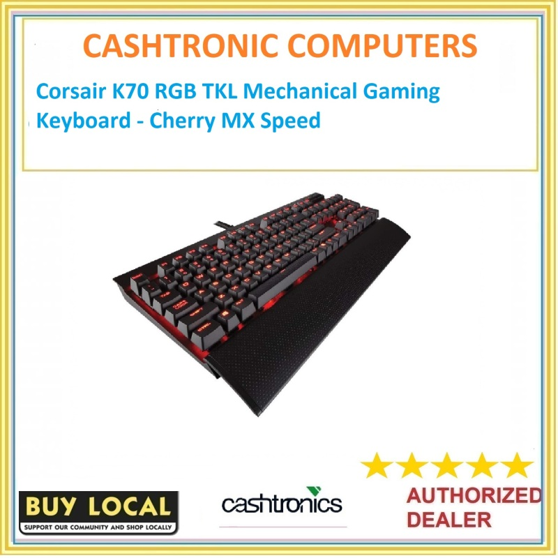 Corsair K70 RGB TKL Mechanical Gaming Keyboard - Cherry MX Speed Singapore