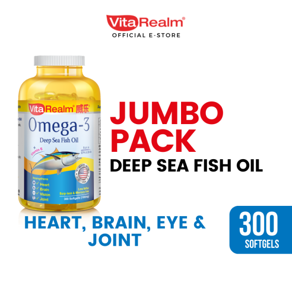 Buy VitaRealm Omega-3 Alaska Tuna Fish Oil 300 softgels Singapore